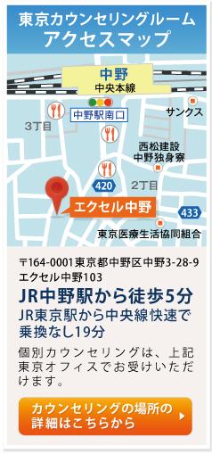 東京カウンセリングルーム アクセスマップ